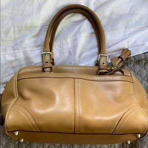 Coach Tanned Leather Shoulder Purse